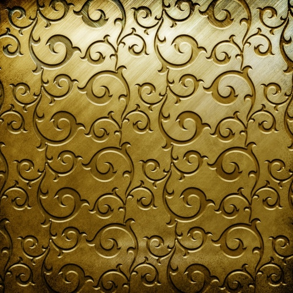 gold copperplate pattern engraved hd picture 1
