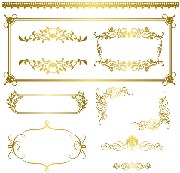 gold lace pattern 05 vector free vector in encapsulated postscript