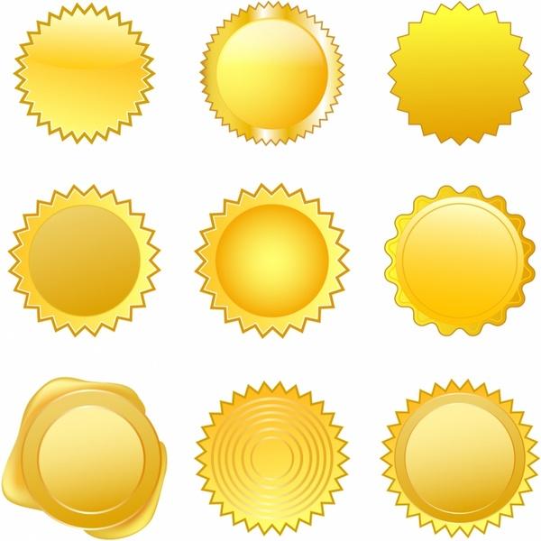 Gold Seals Free Vector In Adobe Illustrator Ai Encapsulated