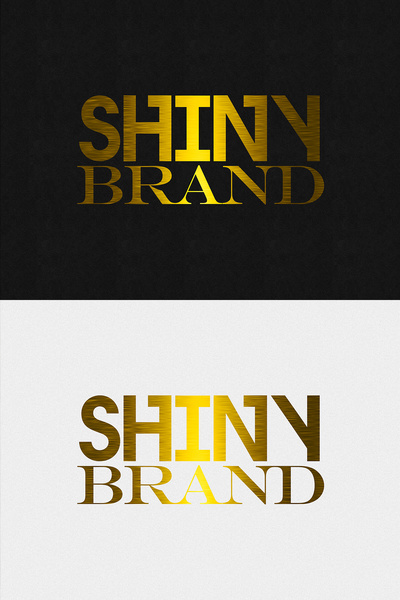 gold text effect