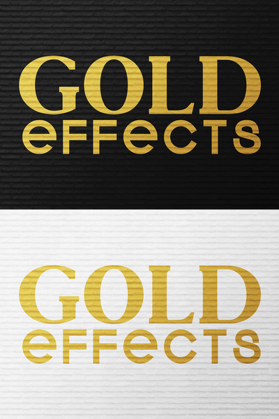 gold text effects 4