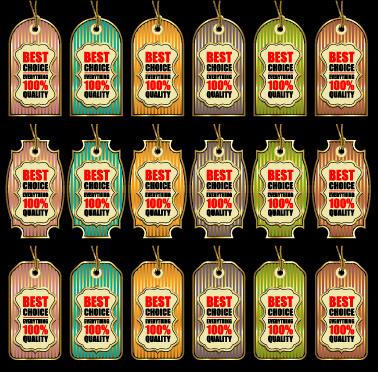 golden best sales tags vector