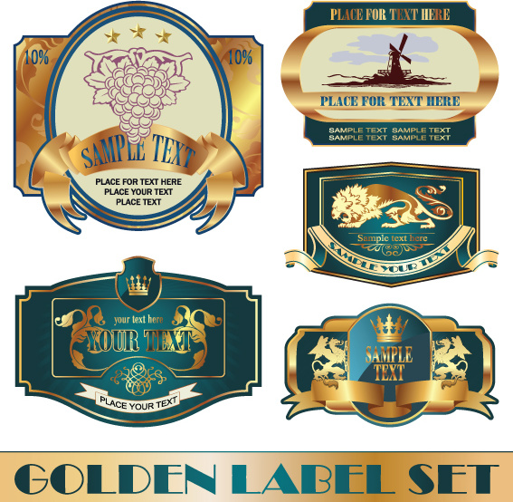 Free vector wine labels collection free vector download ...