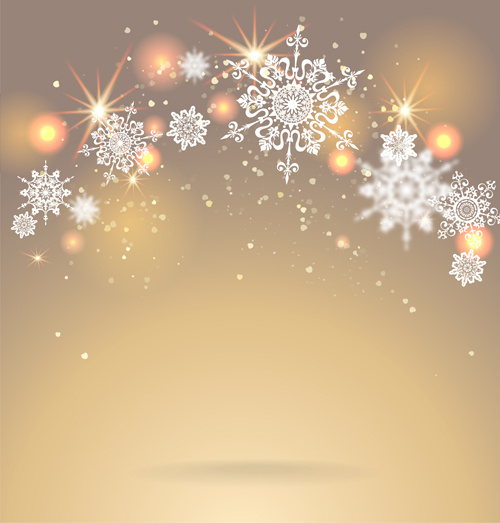 Christmas Background Images Gold.Golden Christmas Background With Snowflake Vecror Free