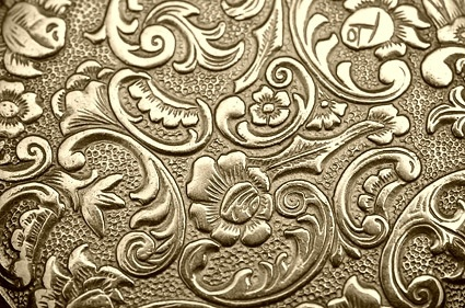 golden european pattern background image