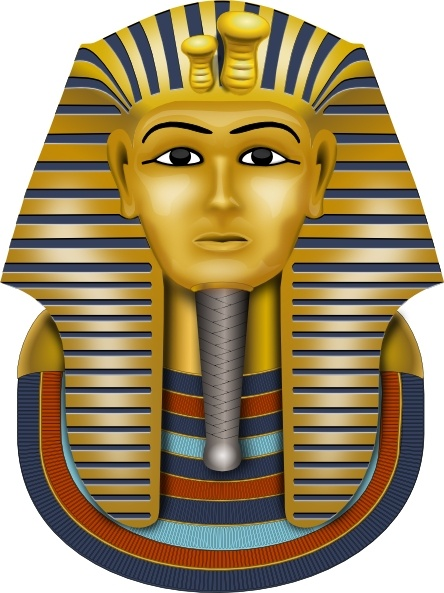 Calendar Vintage Vector : Golden mask king tut clip art free vector in open office