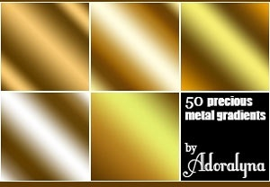 Golden Metal Gradients