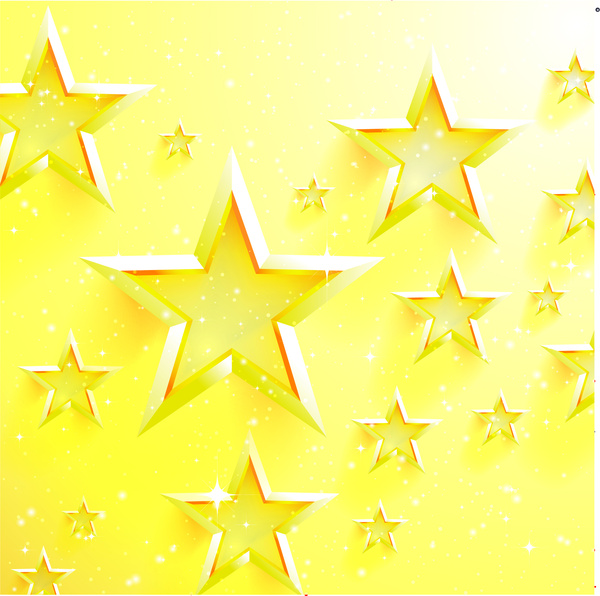 golden star background free vector in adobe illustrator ai ai