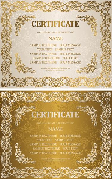 Golden Template Certificate Design Vector Free Vector In Adobe