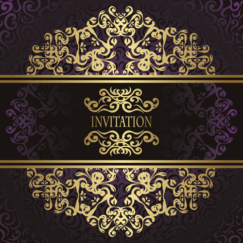 20fbbbf32750 Golden vintage frame vector background Free vector in Adobe ...