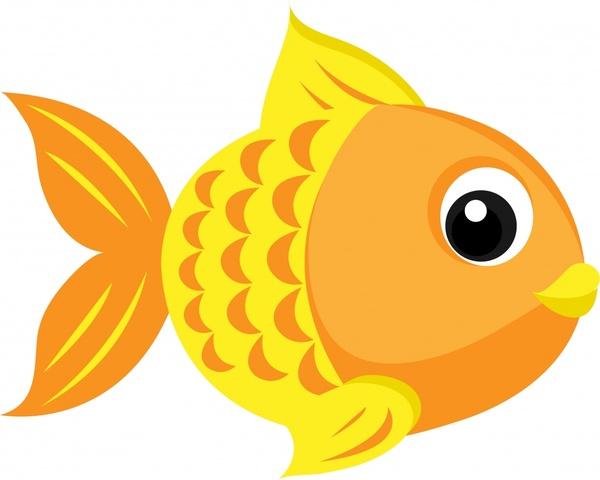 goldfish icon cute cartoon sketch