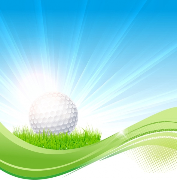 Golf flow background