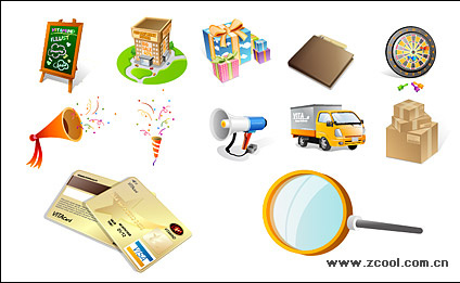 Goods shopping icon vector material