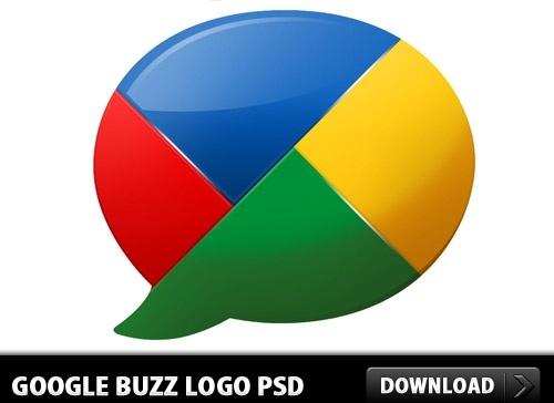 Google buzz Logo PSD
