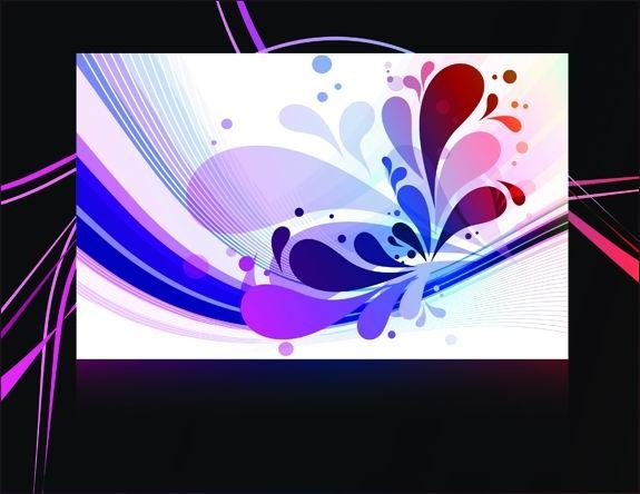 gorgeous black background pattern vector 2