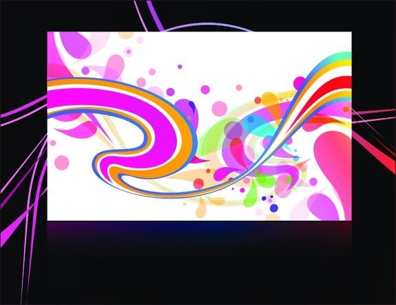 gorgeous black background pattern vector 4