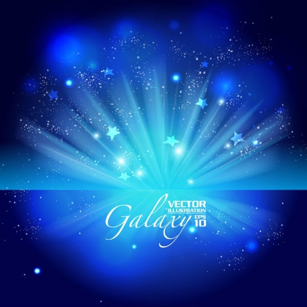 gorgeous blue glare background 02 vector