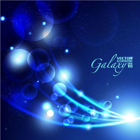 gorgeous blue glare background 05 vector