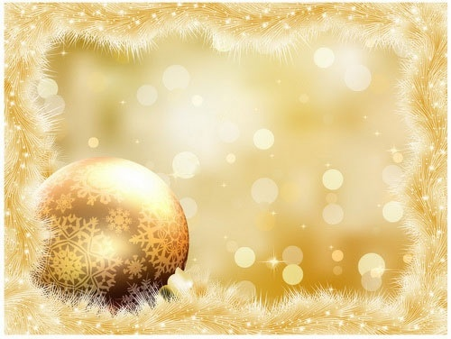 gorgeous christmas ball background vector