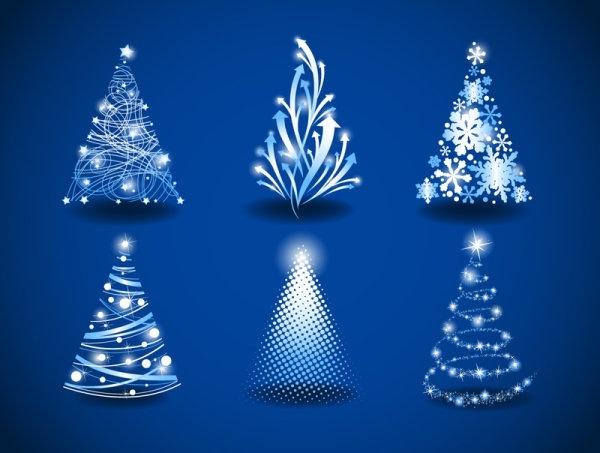 gorgeous christmas tree 03 vector