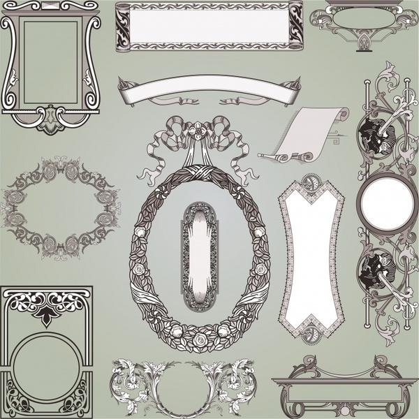 decorative elements templates elegant classical european design