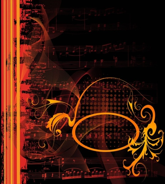 gorgeous classical music background 01 vector
