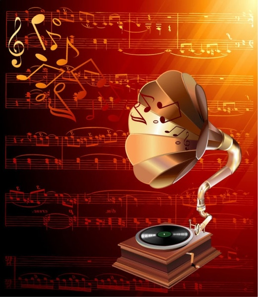 gorgeous classical music background 03 vector