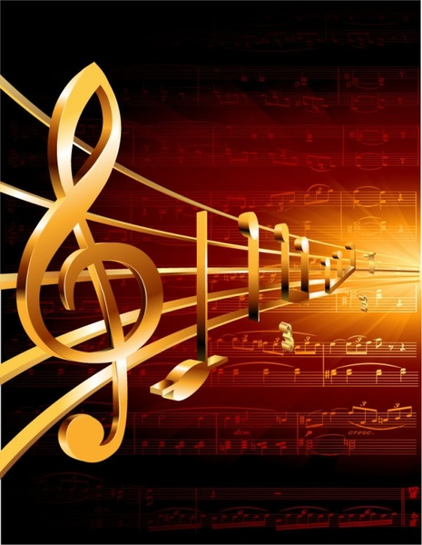 Gorgeous Classical Music Background 05 Vector Free Vector In
