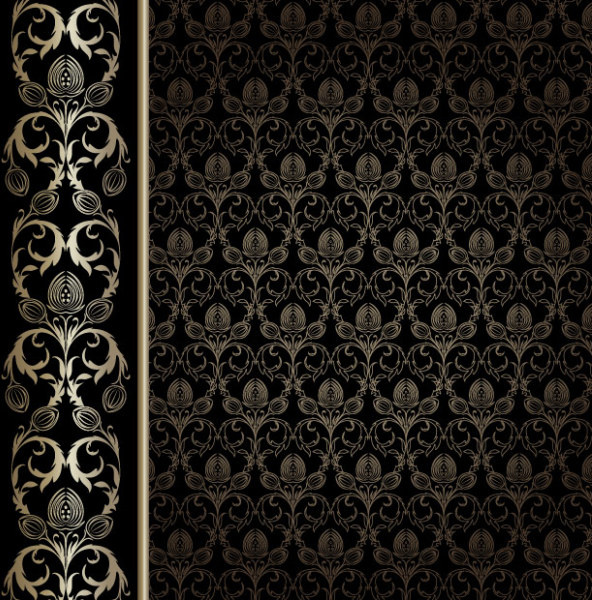 gorgeous decorative pattern wallpaper background vector graphic