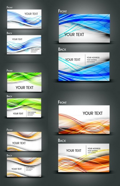 gorgeous dynamic flow line card vector