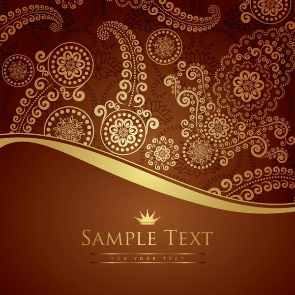 decorative background traditional floral decor elegant design