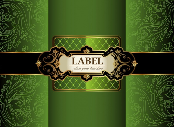 decorative cover template luxury elegant classic green decor