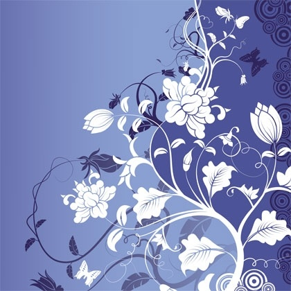 Gorgeous Fashion Flower Background