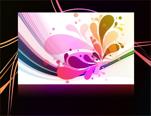 decorative background abstract modern colorful motion