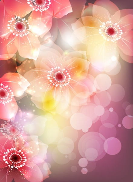 gorgeous flowers illustrator 02 vector free vector in encapsulated