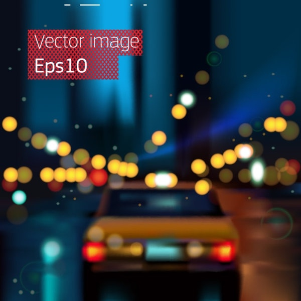 gorgeous night view of the 03 vector