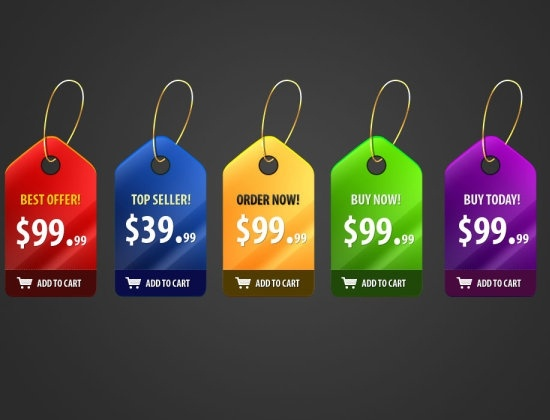 gorgeous price tag psd layered