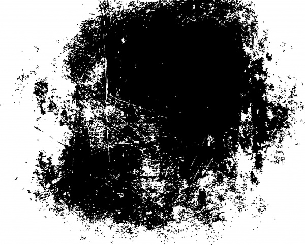 abstract painting black white grunge inks decor