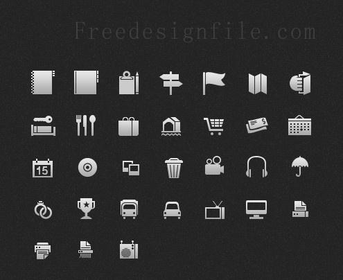 gray mini web icon psd