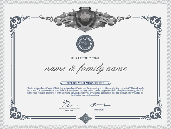 Certificate template adobe illustrator free vector download.