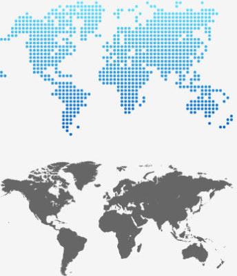 gray world map design vector