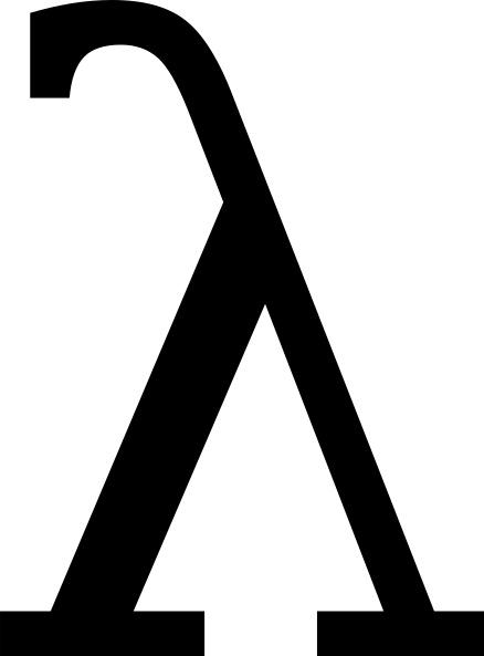 Greek Letter Lambda Clip Art Free Vector In Open Office Drawing Svg