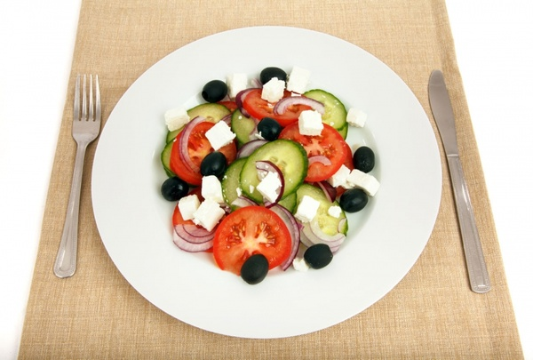 greek salad on plate