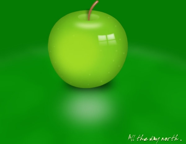 green apple layered psd source files
