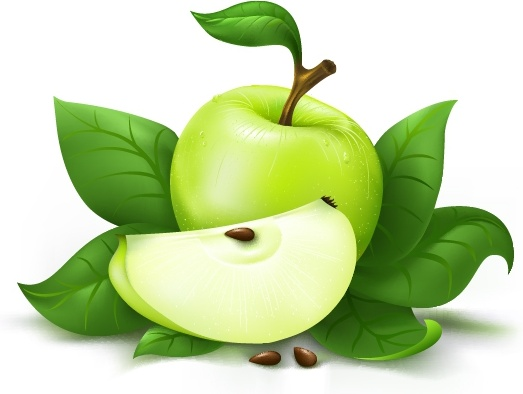 fruit advertising background green apple icon 3d design