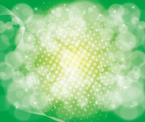 green abstract bokeh background sparkling curves design