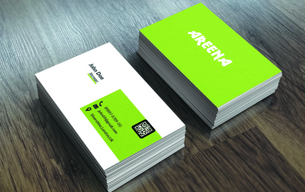 Green business card free psd in photoshop psd d format format green business card reheart Choice Image