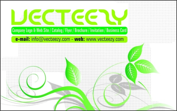 Green business card template free vector in coreldraw cdr r green business card template friedricerecipe Images