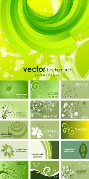 green card background vector