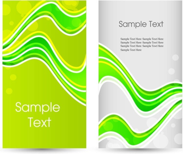 green card template 01 vector